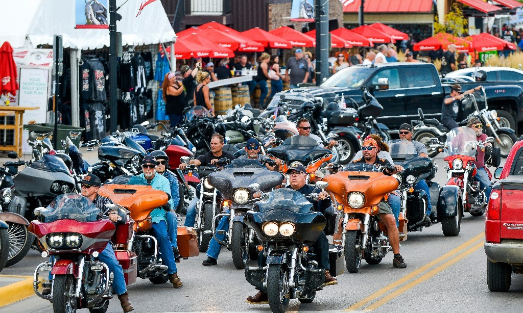 'It's just madness': bikers throng South Dakota town despite Covid threat