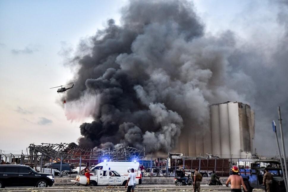 원자폭탄 터진 듯 초토화된 베이루트…사고? 공격? 폭발원인 혼선