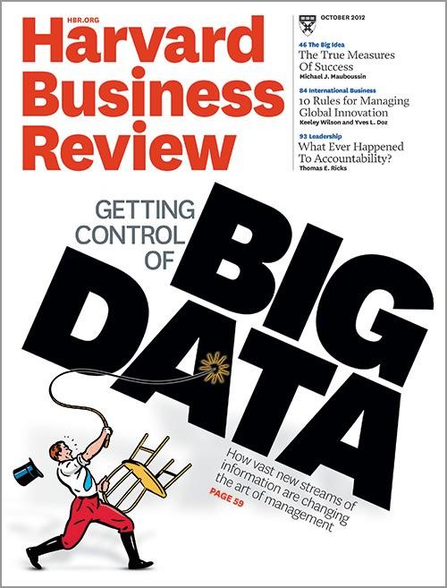 Big data - Magazine cover