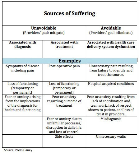 A Framework for Reducing Suffering in Health Care