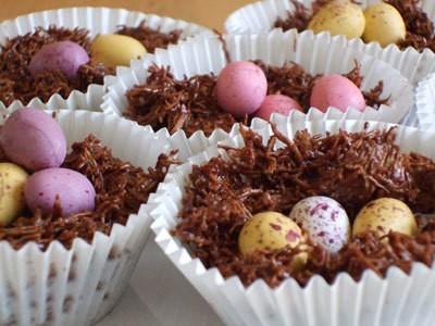 Easter Haystack Cupcakes