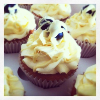 Lemon, Blueberry and White Chocolate Cupcakes