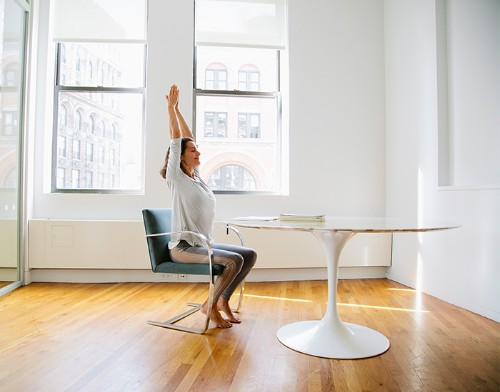 An Office Yoga Sequence to Restore and Rejuvenate