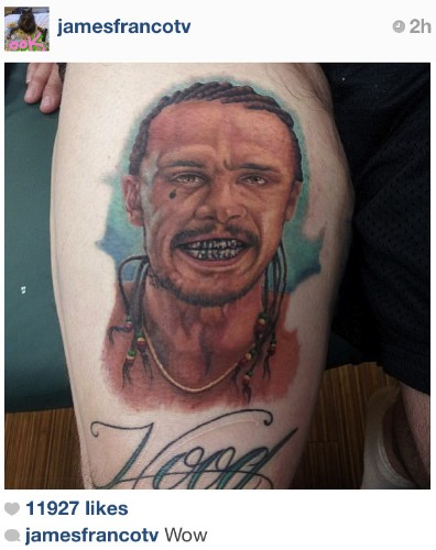 James Franco Tattoo Added to List of Worst Portrait Tattoos Ever