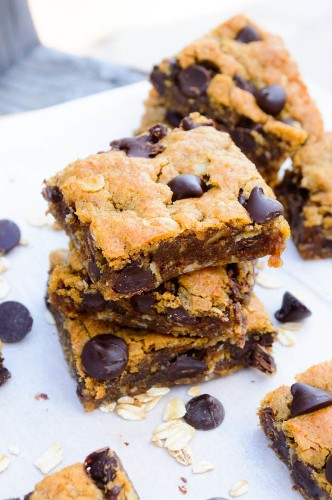 Over the Top Flourless Chocolate Chip Cookie Bars
