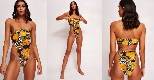How High Is Too High Cut? This £40 Topshop Swimsuit, That's What