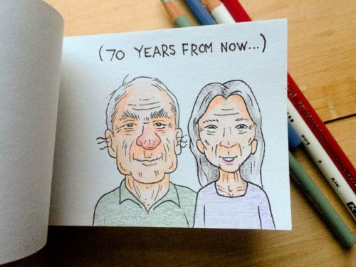 This Flipbook Proposal Adorably Imagines A Couple's Life In Reverse | HuffPost Life