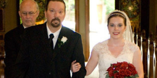 Walk Down Aisle Was Extra Special For Bride Whose Dad Overcame A Stroke Before Big Day | HuffPost Life