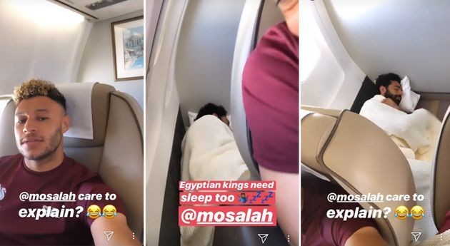 Mohamed Salah Sleeping On The Plane Floor Is Holiday Goals
