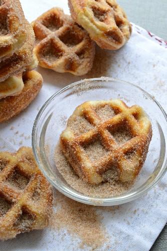 Unbelievable 5 Minute Cinnamon Sugar Waffle Bites