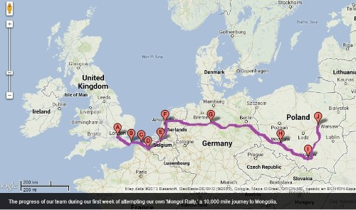 """Week 1 of the Mongol Diaries - UK to Poland: Testing Out the Concept """"Mongolia or Bust"""""""