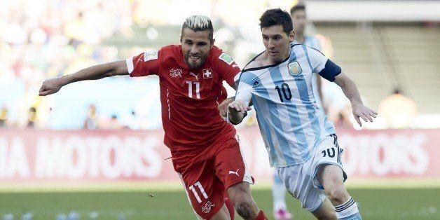 Argentina Beats Switzerland 1-0 When Lionel Messi Sets Up Goal In Extra Time (GIF)