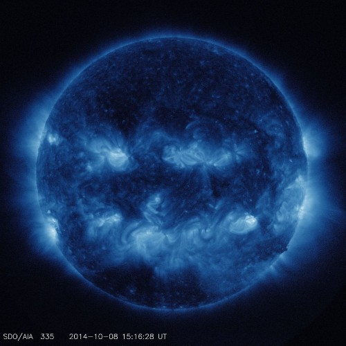 The Sun Looks Uncannily Like A Jack-O-Lantern, Just In Time For Halloween