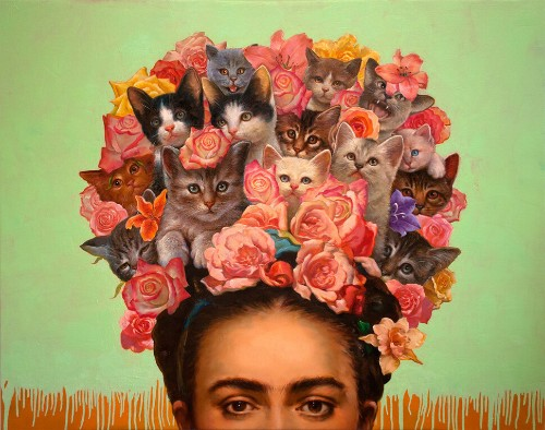 A Cat Art Show Turns Your Favorite Internet Meme Into Muse