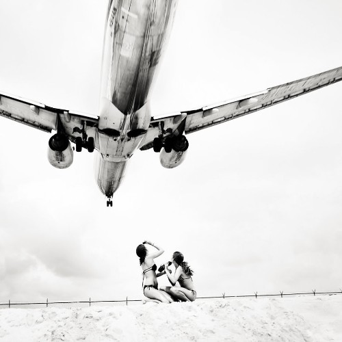Close Encounters With Incoming Jets On St. Maarten's Maho Beach