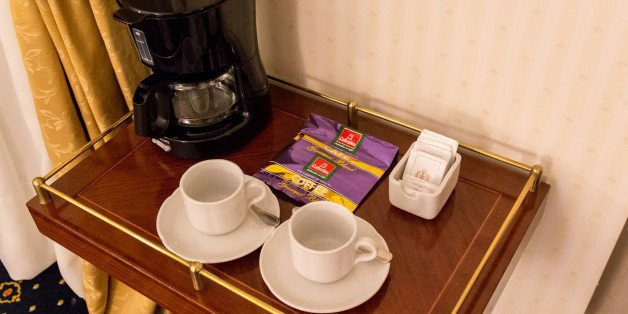 How To Make Coffee With Nothing But Objects You'd Find In A Hotel Room | HuffPost Life