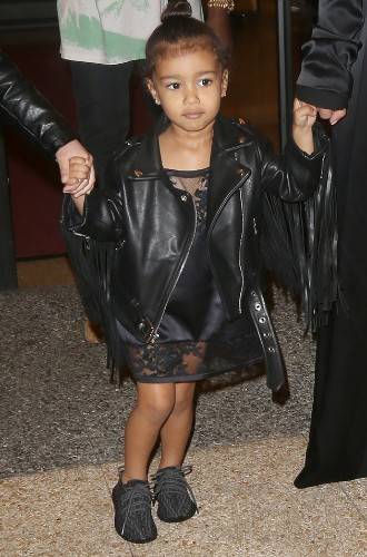 Kim Kardashian And North West Rock Matching Dresses To Celebrate Kanye's Birthday