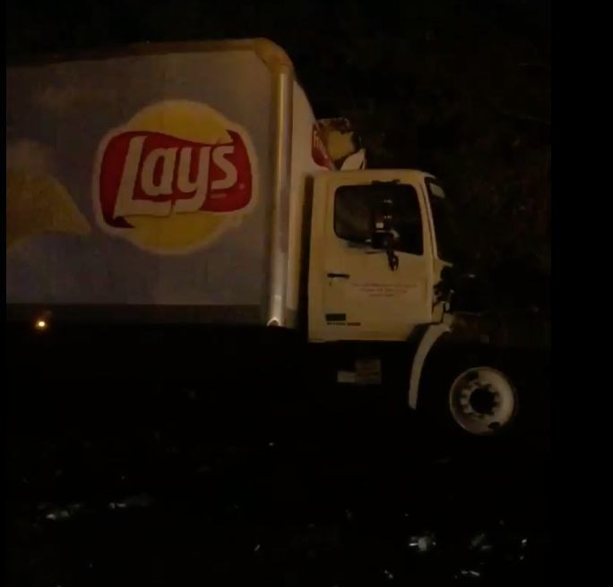 Beer Truck Collides With Chip Truck, Making Frat Boy Dreams Come True
