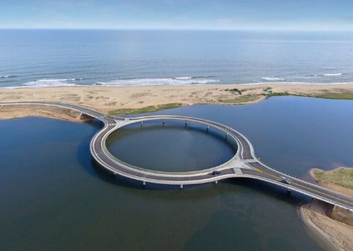This Circular Bridge Encourages Drivers To Slow Down And Take In The View