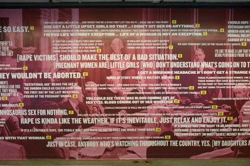 Mural Shows 37 Real And Repulsive Things Politicians Have Said About Women