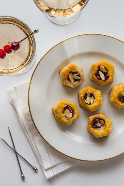 Easy Vol au Vent Appetizers with Brie and Jam