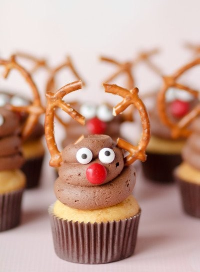 The Cutest Reindeer Cupcakes You Ever Did See