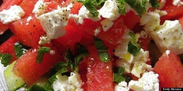 Watermelon Salad Recipe With Cucumbers, Mint and Feta Cheese | HuffPost Life