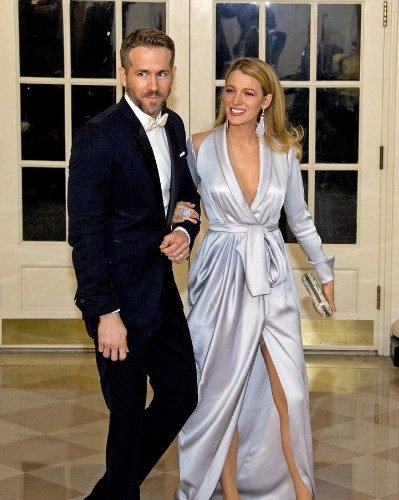 Blake Lively Wears A Glorified Silk Robe To The State Dinner   HuffPost Life