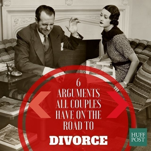 6 Arguments All Couples Have Before They Divorce | HuffPost Life