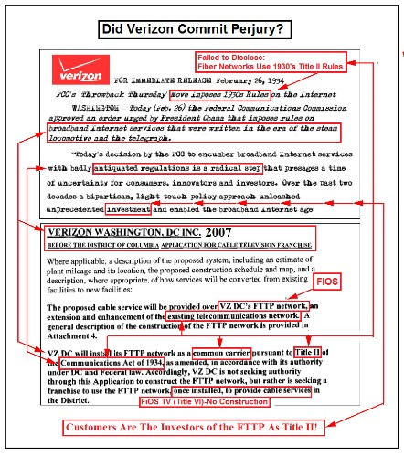 Verizon's Morse Code Press Release Telegraph's the Claims of Perjury