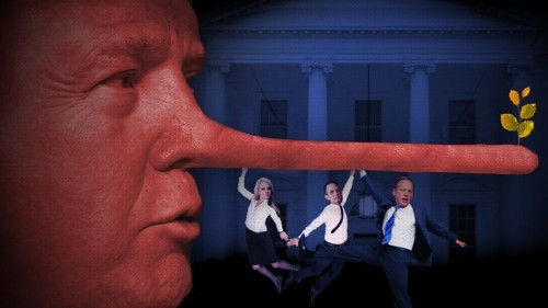 The First 100 Lies: The Trump Team's Flurry Of Falsehoods