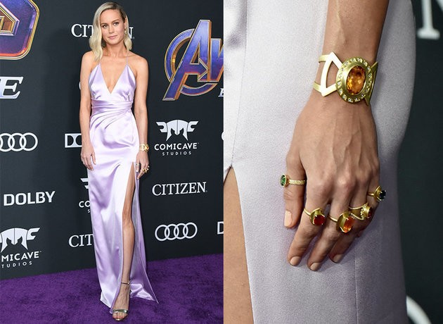 Brie Larson And Scarlett Johansson's Jewels At The Avengers Premiere Are Giving Us Serious Style Inspo