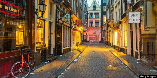 Amsterdam's Red Light District By Night