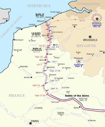 This Week in World War I October 17-23, 1914