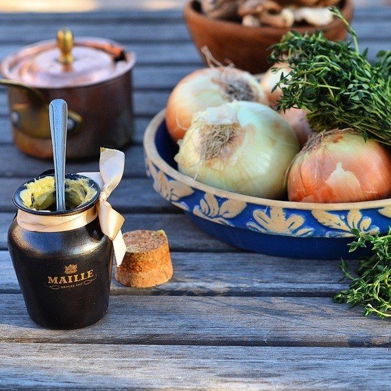 A Fall Vegetarian Recipe: Stuffed Onions with Mushrooms, Spinach, Gruyᅢᄅre & Maille Black Truffle Mustard