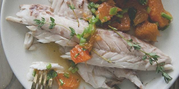 A Kitchy Kitchen Recipe: Salt-roasted Fish With Spicy Orange Salsa