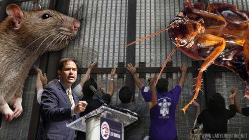 GOP Crowd Applauds Calling Immigrants Rats and Roaches