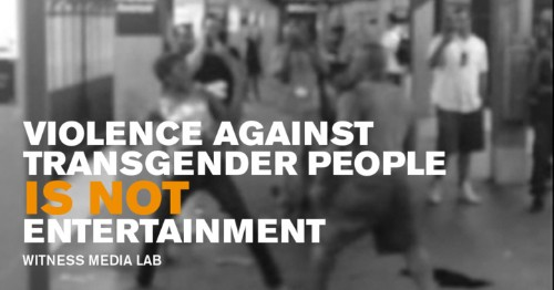 Capturing Hate: New Report Shows How Dangerous It Is To 'Walk While Trans'