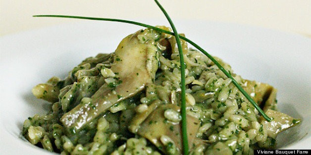 Artichoke Risotto With Lemon-Herb Pesto | HuffPost Life