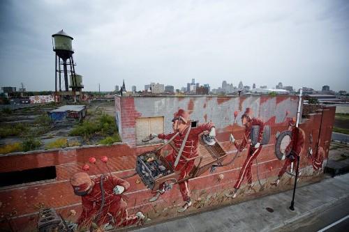 Dozens Of Artists Filled A Detroit Neighborhood With Larger-Than-Life Murals