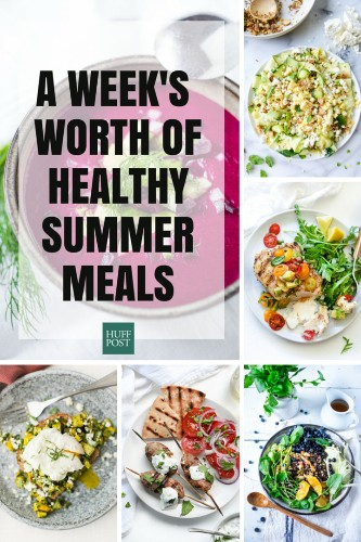 A Week's Worth Of Healthy Recipes For Breakfast, Lunch And Dinner | HuffPost Life