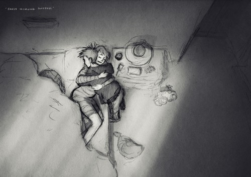 Husband's Sketches Of Wife And Kids Are Full Of Love And Raw Emotion