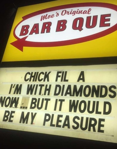 Even A Strip Club Joined This Hilarious Sign War With Chick-Fil-A | HuffPost Life