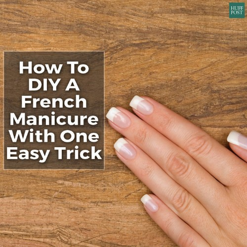 A Foolproof Way To Do Your Own French Manicure