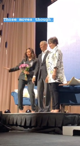 Barack Obama Makes Surprise Appearance During Michelle's Book Tour