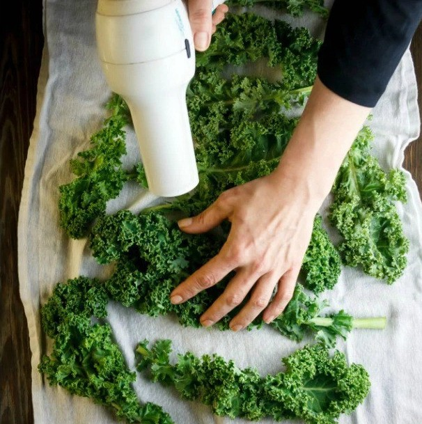 How Your Blow Dryer Can Make The Best Kale Chips Ever | HuffPost Life