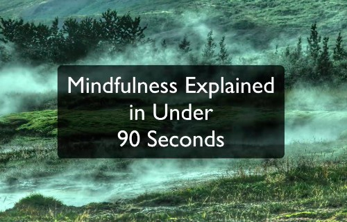 Video: Mindfulness Explained in Under 90 Seconds