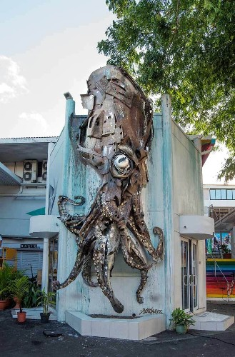 Jellyfish and Sharks and Octopi, Oh My! Street Murals in Tahiti's ONO'U Festival