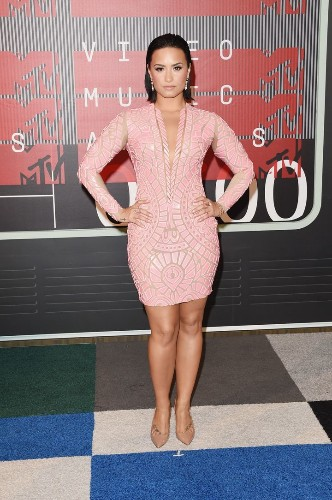 Demi Lovato Stuns In A Pink Minidress At The VMAs | HuffPost Life
