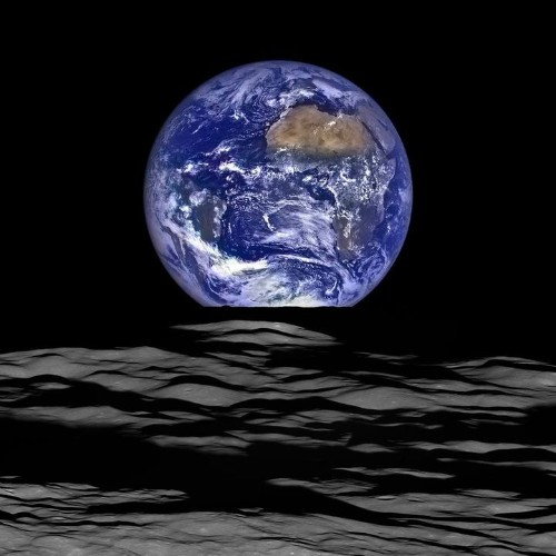Gorgeous New NASA Image Shows Earth 'Rising' Over The Moon